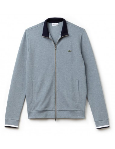 Sweatshirt Lacoste Men Platine Chine/Marine-Blan