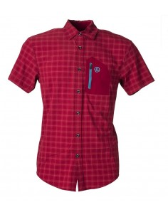 Shirt Ternua Svalder Burgundy Checks