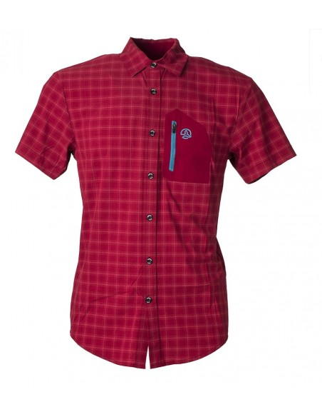 Shirt Ternua Svalder Burgundy Checks