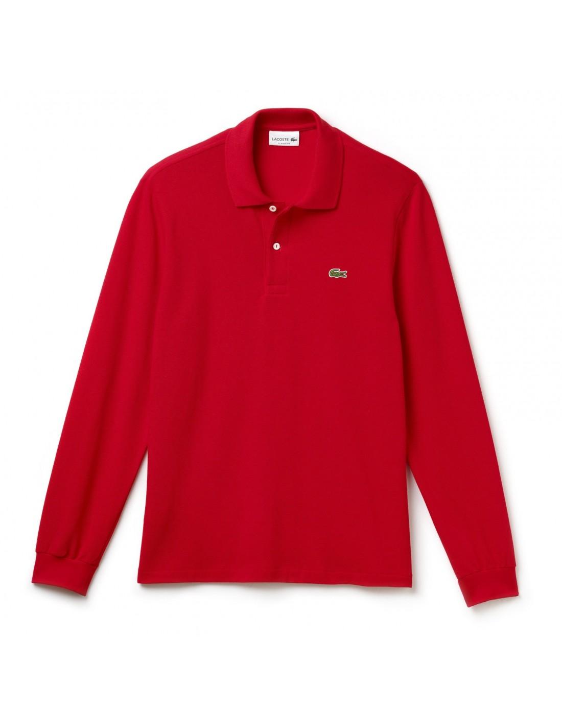 b5d999b8706 Polo Lacoste Classica maniche lunghe Rouge