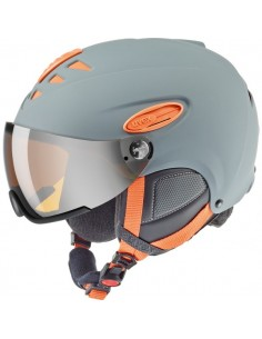 Uvex hlmt 300 Visor Grey-Orange Mat