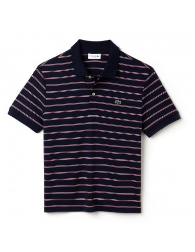 Polo Lacoste Men Marine/Blanc-Bordeaux