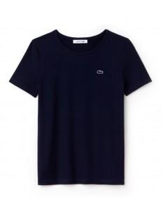 T-Shirt Lacoste Donna a girocollo Marine