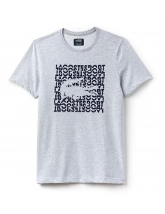 T-Shirt Lacoste Men Argent Chine/Marine