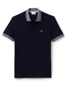 Polo Lacoste Men Marine/Blanc
