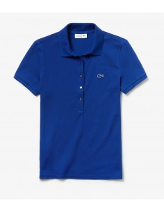 Polo Lacoste Slim Fit Donna Bleu Marine