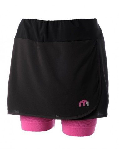 Woman skirt with brief insert