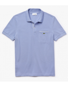 Men's Lacoste Regular Fit Contrast Accents Cotton Piqué Polo Shirt