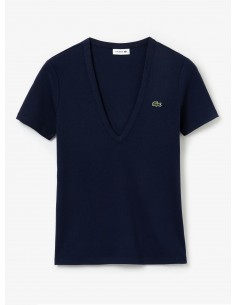 Women's Lacoste Soft Cotton V-Neck T-shirt