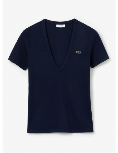 Women's Lacoste Soft Cotton V-Neck T-shirt