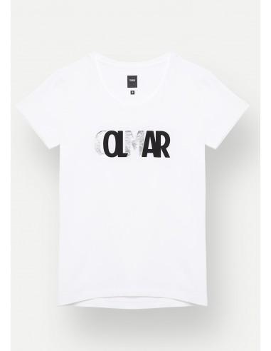 Damen T-Shirt Colmar mit schattiertem Logo