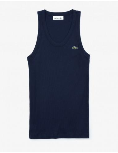 Lacoste Women's Soft Sleeveless Scoop Neck Top
