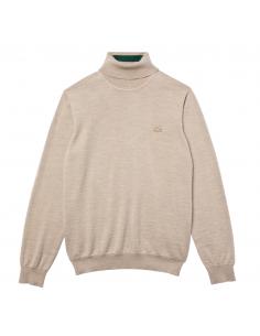 Men's Lacoste Turtleneck Merino Wool Sweater