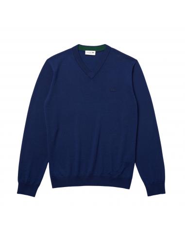 Herren Lacoste Woll-Pullover mit...