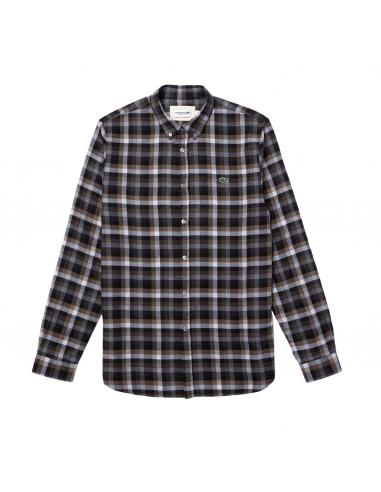 Camicia regular fit da uomo in cotone a quadri