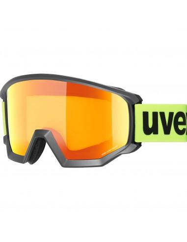 Uvex Athletic CV Black Mat - Mirror Orange S1