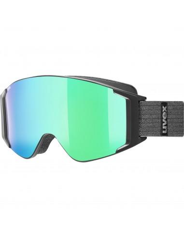 Uvex g.gl 3000 TO Black Mat  - Mirror Green S1/3
