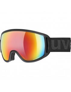 Uvex Topic FM Spheric Black Mat - Mirror Rainbow S3