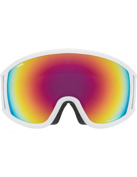 Uvex Topic FM Spheric White Mat - Mirror Rainbow S3