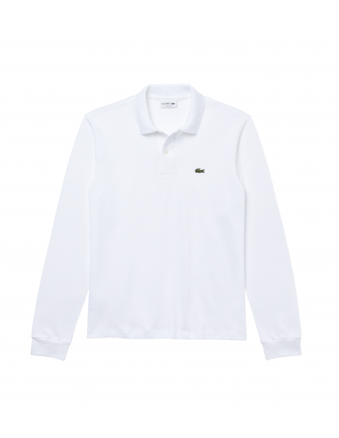 Long-sleeve Lacoste Classic Fit Polo Shirt Blanc