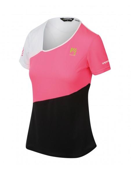 Maglia Karpos Cima Undici W Jersey Pink Fluo/Black/White