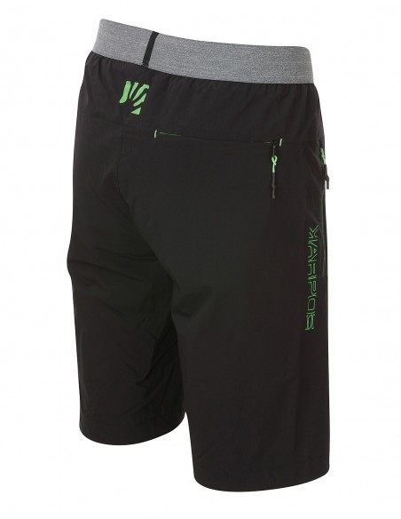 Bermuda Karpos Tre Cime Black/Green Fluo