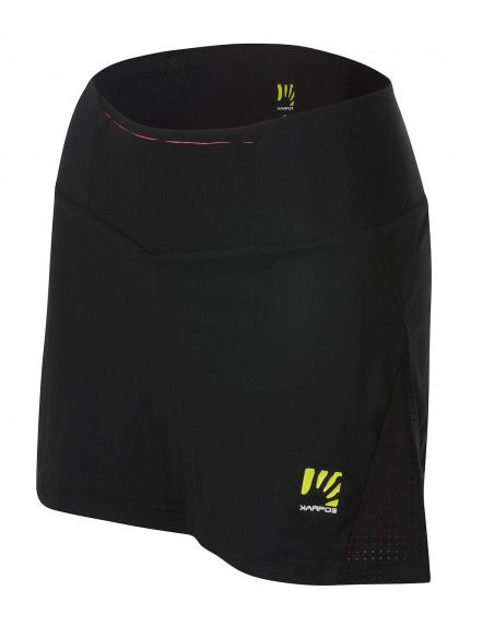 Karpos Lavaredo Run Skirt Black Pink Fluo