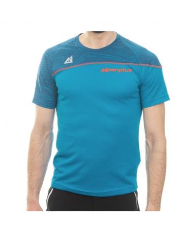 T-Shirt Alpenplus Bicolor Mann