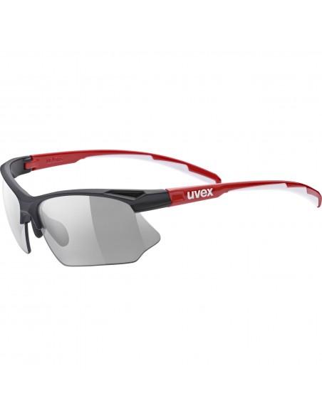 Uvex Sportstyle 802 V Black Red White