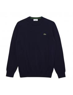 Herren-Pullover aus Bio-Baumwolle Lacoste Navy Blau