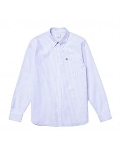 Regular Fit Lacoste Herren-Hemd Weiß-Blau