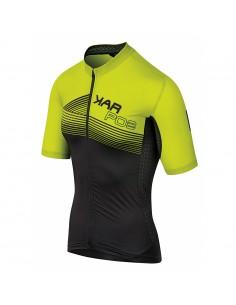 Karpos Green Fire Jersey Black/Yellow Fluo